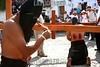 Mexico : Se llevaron a cabo las tradicionales procesiones de semana santa en la ciudad de Taxco Guerrero donde partciparon penitentes flajelandose la espalda toda la noche , encruzados cargando pesados rollos de espinas de zarza que se les entierran en la espalda y las animas que son mujeres encapuchadas que llevan grilletes en los pies y van gargando peque–os cristos, Taxco guerrero son unos de los pocos lugares del pais que llevan a cabo las fiestas de Semana Santa con tanto fervor . / Easter week in Taxco. / Mexiko: Ostern in Taxco. Prozession. Gläubige tragen zur Busse Dornenbündel und geisseln sich den Rücken wund. © Carlos Tischler/LATINPHOTO.org