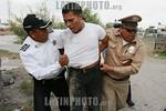 Mexico : Policias municipales lograron asegurar a tres personas responsables del robo a una llantera , generandose una persecucion que termino en el poblado de San Pedro Totoltepec (20 Kms)  ...