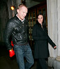 26 Feb 2008 - New York, NY - Paul Bettany plays around with boxing gloves while out with wife Jennifer Connelly.   Photo Credit Jackson Lee