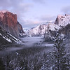 Some Alpen glow at Tunnel View, Winter 2008