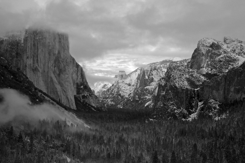Tunnel View after Sunset, B&W conversion. December 08