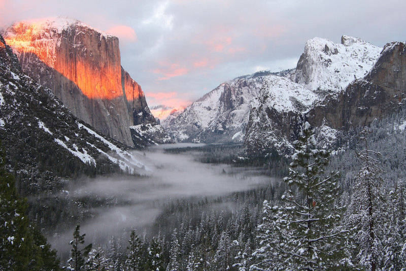 My personal favorite of Tunnel View, Feb 2008
