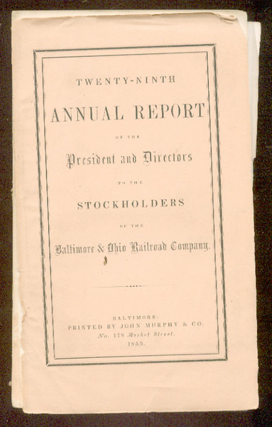 Baltimore & Ohio Railroad 1855 annual report<br /> 323597031_8q2D3