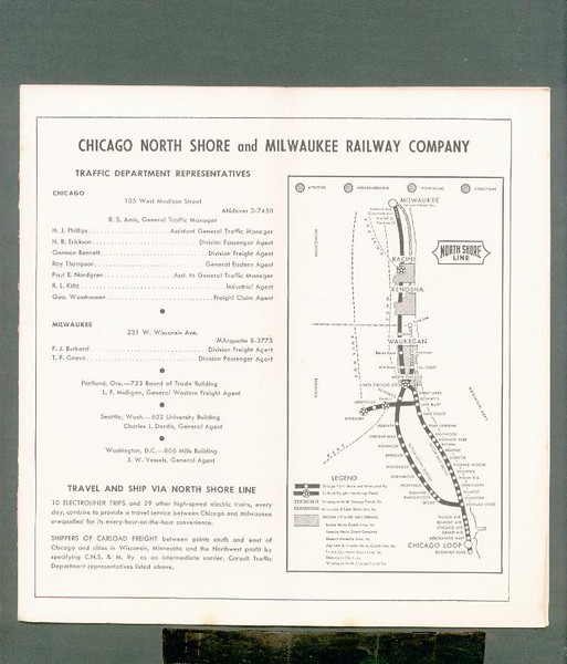 Chicago North Shore & Milwaukee 1952-apr-27 CNS&M ptt<br /> 267432024_b9g7f