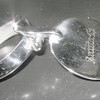AT&SF *SANTA FE* Silver Condiment Glass TOP<br /> 269345496_pq7Ng