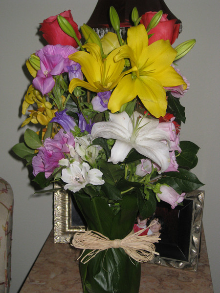 Flowers from Dee, Bryan and the boys