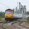 A zoomed in shot of 60010 discharging its train 6D71 0327 Rylstone Quarry - Hull Dairycoates Stone train.