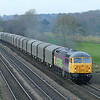 56312 is seen approachin Knabbs Bridge with 6Z56 0605 Washard Heath - Immingham Nordic Terminal empty steel working.