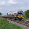 66184 passes Kellingley Colliery as it makes its way to Drax Power Station as 6E82 New Cumock - Drax P.S. working