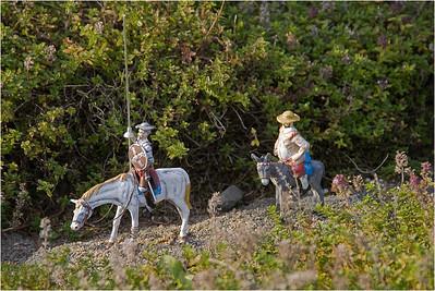 Don Quichote de la Mancha and Sancho Panza