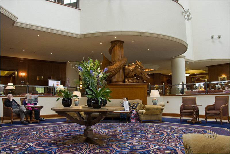 Lobby of the Celtic Manor Hotel (Newport, Wales)