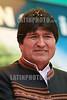 Bolivia: Presidente Evo Morales . Dia del trabajo. 1 de mayo en La Paz. / Labor day. May day. miner. / Bolivien: Der Präsident Boliviens , Evo Morales am Tag der Arbeit, 1. Mai 2008 in La Paz. © Alejandro Azcuy/LATINPHOTO.org