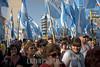 Argentina - Buenos Aires : manifestantes apoyando la votacion de las retenciones al agro , el 15 de Julio 208/ Argentina - Buenos Aires: demonstrators supporting government for the agricultors withholding, July 15 2008 , (DIGITAL IMAGING)<br /> <br /> © Michel Marcu/LATINPHOTO . org<br /> <br /> <br /> <br /> NO ARCHIVO-NO ARCHIVE-ARCHIVERUNG VERBOTEN!