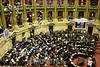 Argentina - Buenos Aires : La nueva Ley de Servicios de Comunicacion Audiovisual es aprobada en la Camara de Diputados con el apoyo de los bloques del Kirchnerismo y de la centro izquierda . / Argentinien: Parlament. © Marcelo Somma/LATINPHOTO.org