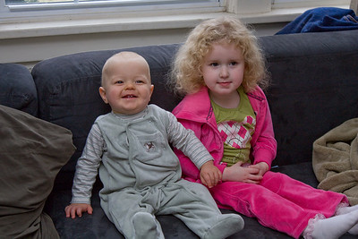 Quinton and Beverly posing in their outfits from Granddad and Grandma Kathy