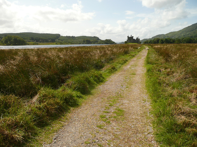 Approach to Kilchurn Castle at Loch Awe