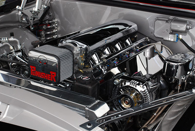 One of many engine compartments that caught my eye during the day.  Great attention to detail.  2009 Magic Dragon car show Lake of the Ozarks (c) D.L.Jones Photography 2009
