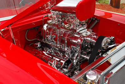 This was in either a '55 or '57 Chevy (don't recall but think it was '55).  Car was very red and very nice.  2009 Magic Dragon car show Lake of the Ozarks (c) D.L.Jones Photography 2009