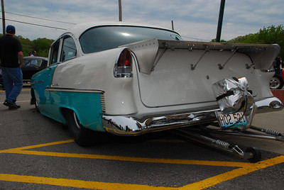 Back half of the blown '55 Chevy.  2009 Magic Dragon car show Lake of the Ozarks (c) D.L.Jones Photography 2009
