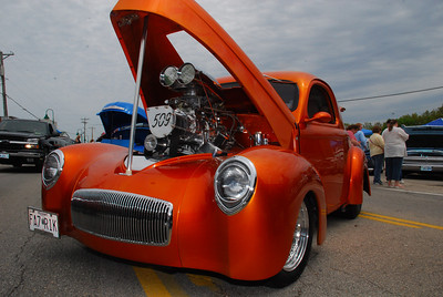 Bad to the bone Willys.  2009 Magic Dragon car show Lake of the Ozarks (c) D.L.Jones Photography 2009