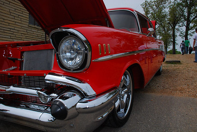 Very nice '57 Chevy.  2009 Magic Dragon car show Lake of the Ozarks (c) D.L.Jones Photography 2009