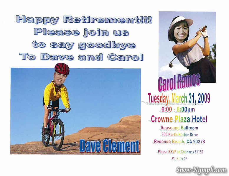 Dave and Carols Retirement Flyer by Cori
