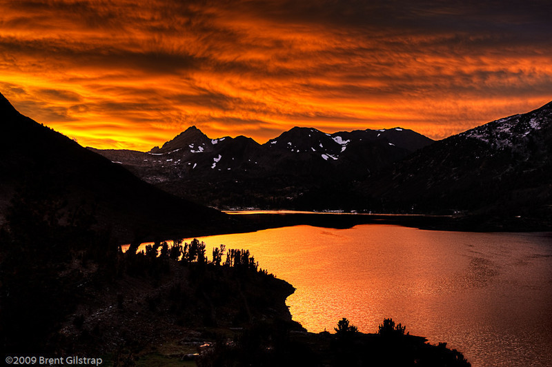 "Saddlebag Sunset Saddlebag Lake, Inyo National Forest, CA  Section: Professional Enlargements Class: Sunrise/Sunsets/Clouds Place:  <b><font color=""blue""><u>1st</u></font></b>  <b><font color=""orange""><u>BEST OF SHOW</u></font></b>"