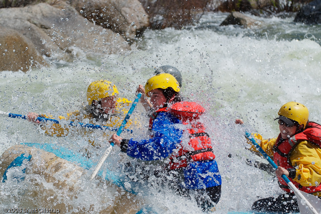 """River Rafting"" Merced River, CA  Section: Professional Enlargements Class: Action/Photojournalism Place: <b><font color=""red""><u>2nd</font></u></b>"