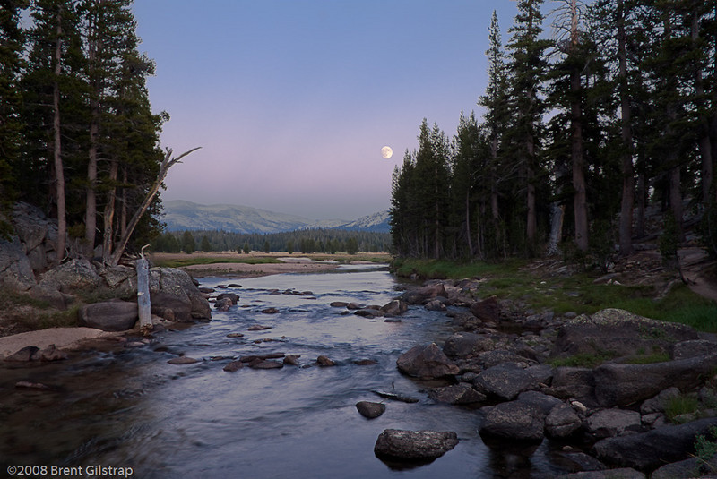 """""""Tuolumne River at Dusk""""<br /> Yosemite National Park, CA<br /> <br /> Section: Professional Enlargements<br /> Class: Yosemite<br /> Place: -none-"""