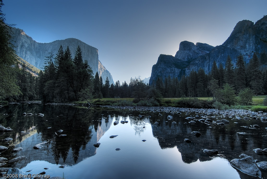 """September Morning at Valley View""<br /> Yosemite National Park, CA<br /> <br /> Section: Professional Enlargements<br /> Class: Yosemite<br /> Place: -none-"