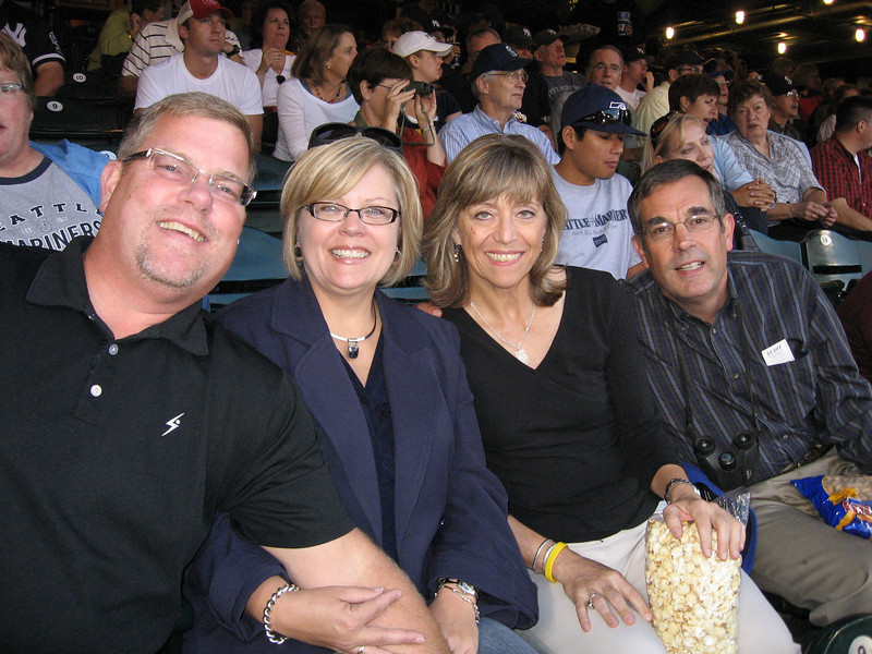 Tony, Sally, Susan, Jim enjoying the game! Thanks to Susan for the great seats!