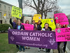 Women's ordination supporters gather outside Vatican Embassy in Washington, DC on March 25, 2009.