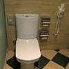 Yes, square toilets.  Added bonus there were toilet seats- not something we always saw on toilets over here.