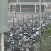 Airport workers parking lot- lots of Vespas- which later we decided was another name for suicide drivers.