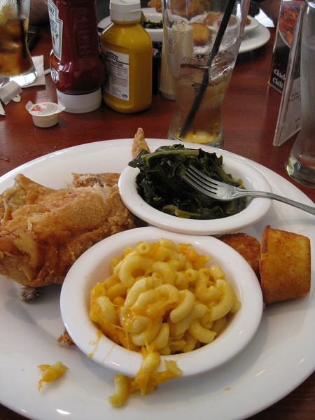 "Good Southern Dinner- my favorite was the mac and cheese and ""sweet tea"""