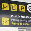 Interesting experience landing in foreign country- not knowing the language and trying to find where hotel bus would pick us up- after wandering in airport for a while we finally spied this sign.