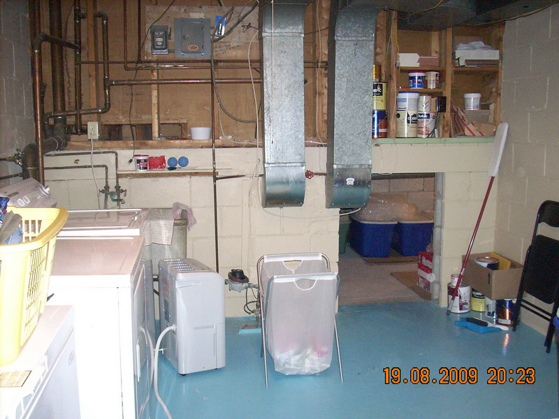 Laundry room and crawl space (storage) - Basement