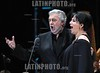 Mexico :Opera soprano singer Olivia Gorra and tenor singer Placido Domingo perform an opera song during the Concert of the Angel in Mexico City, December 19, 2009 . Domingo and Gorra played the concert with sopranos singers Maria Alejandres and Eugenia Garza. Mexico: La cantante soprano Olivia Gorra canta con el tenor Placido Domingo durante el Concierto del Angel en la ciudad de Mexico, Diciembre 19, 2009 . © Heriberto Rodriguez/LATINPHOTO.org