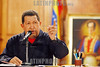 Venezuela's President Hugo Chavez speaks during a press conference at the Miraflores Palace in Caracas, July 10, 2009 . © Alejandro Rustom/LATINPHOTO.org