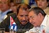 Nicaragua : Presidentes del ALBA . / Raul Castro and Hugo Chavez. / Der kubanische Präsident Raul Castro und Nikaraguas Präsident Daniel Ortega. © Oscar Navarrete/LATINPHOTO.org