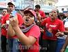 Venezuela : Chavistas se enfrentaron a golpes en la avenida Bolivar de Valencia, durante la marcha opositora en contra de la inseguridad en el estado Carabobo, miercoles 21 de Enero del 2009 . / Supporters of Venezuela's President Chavez. / Chavisten am 21.01.2009 in Valencia, Carabobo. © Juan Carlos Hernandez/LATINPHOTO.org
