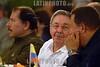 Nicaragua : Presidentes del ALBA . / Raul Castro and Hugo Chavez. / Der kubanische Präsident Raul Castro und Venezuelas Präsident Hugo Chavez. Links Daniel Ortega. © Oscar Navarrete/LATINPHOTO.org