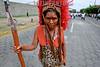 Nicaragua - Managua : Bajada de Santo Domingo de Guzman de las Sierritas hacia Managua . / A woman, dressed as an indigenous native, takes part in celebrations honoring Santo Domingo de Guzman, patron of Managua, in Managua. / Nikaragua: Frau in Tracht einer indigena am Fest des Santo Domingo de Guzman, des Schutzheiligen von Managua. .© Inti Ocon/LATINPHOTO.org