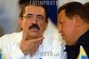 Nicaragua : Presidentes del ALBA suscriben acuerdos y condenan el golpe de estado al presidente de Honduras Manuel Zelaya . / Manuel Zelaya and Hugo Chavez. / Honduras Präsident Manuel Zelaya zusammen mit Hugo Chavez. © Oscar Navarrete/LATINPHOTO.org