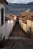 View of one of the many tipical streets in Cusco, Peru, at sunset . © Victoria Schirinian/LATINPHOTO.org