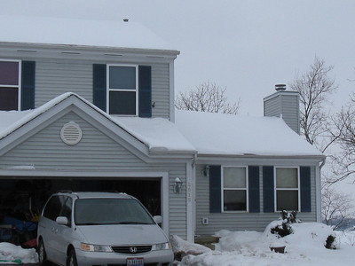 I just wanted to capture the roofline.  We are expecting another storm this weekend.