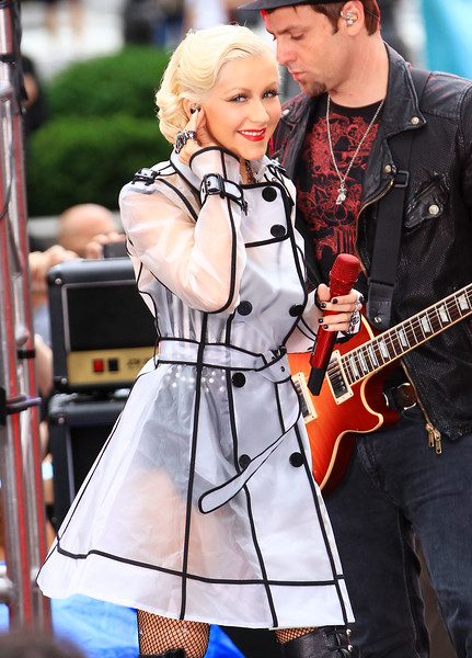 09-06-10 Christina Aguilera gives performs on the CBS morning show in New York City.  Photo credit Jackson Lee
