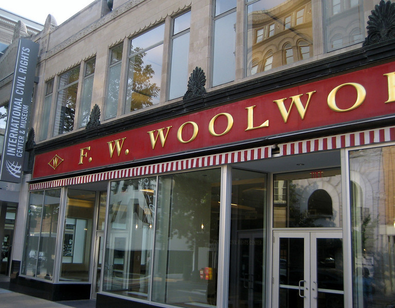The downtown Greensboro Woolworth lunch counter is now a Civil Rights museum.
