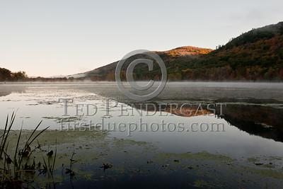 Woods Pond at Sunrise - Lenox MA