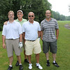 Before the Clambake starts, golf is the game played in the morning at Radisson Greens in Baldwinsville, NY. 2nd from right, Butch Miller, President of Northeast Dairy Foods Assoc. with his fellow golfers